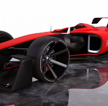 Red and Black Race Car