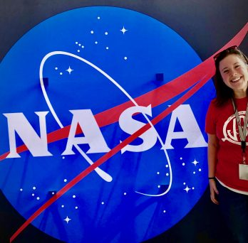 Annie McDonnell with NASA Logo