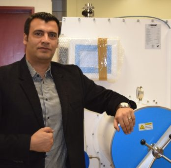 Professor Shahbazian-Yassar and Lab Machine