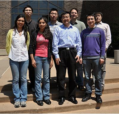 Professor Li with students