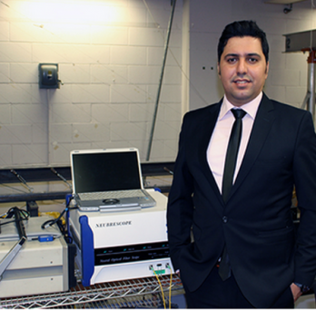 UIC's Emad Norouzzadeh Tochaei at lab