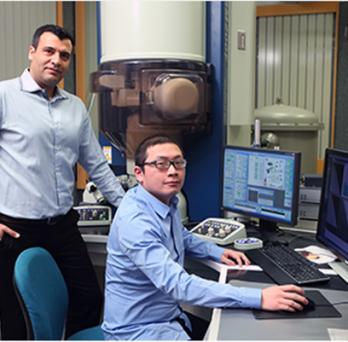 Professor Yassar with PhD Student