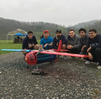 Students with their plane