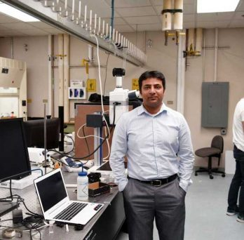 Professor Anand at lab