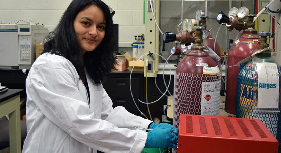 Jyoti K. Chetri at lab