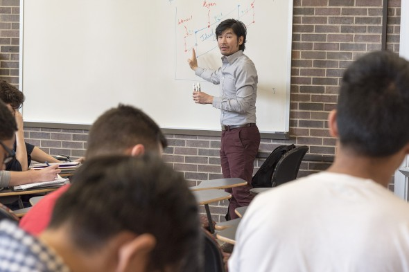 Professor Siow lecturing
