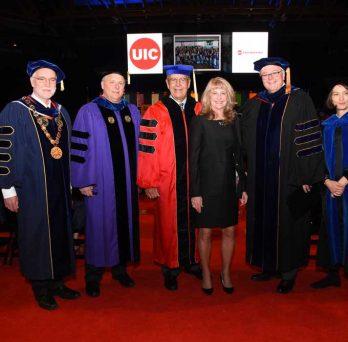 John Major at honorary doctorate award ceremony