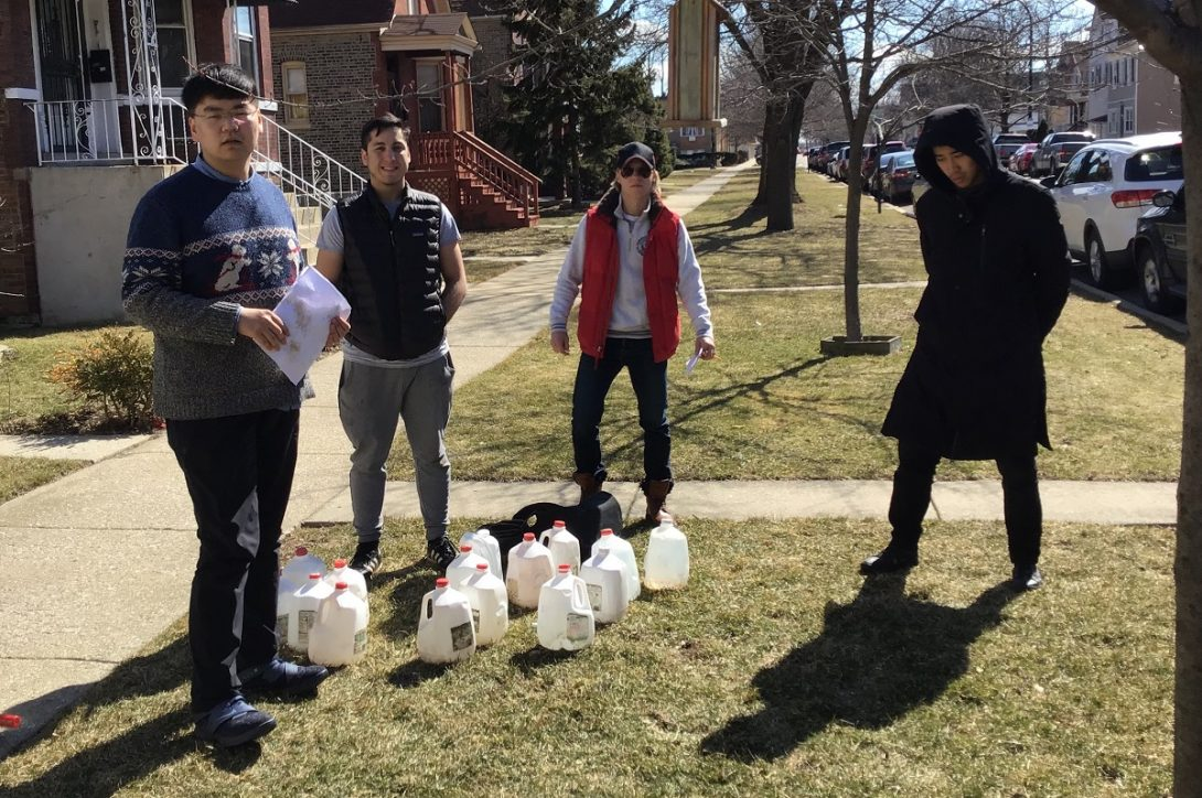 UIC students perform an infiltration test