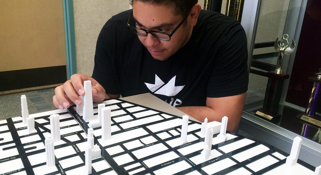 CME junior Jacob Miguest puts together 3D model