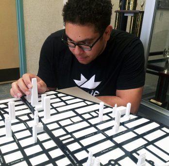 CME junior Jacob Miguest puts together 3D model