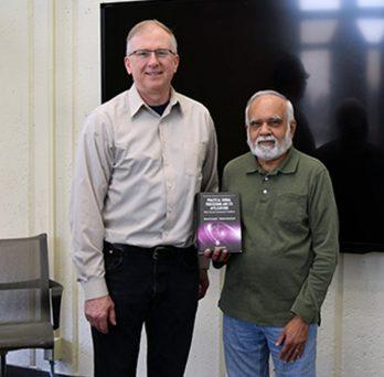 Lecturer Vladimir Goncharoff and Professor Sharad Laxpati