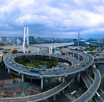 Shanghai China Nanpu Bridge