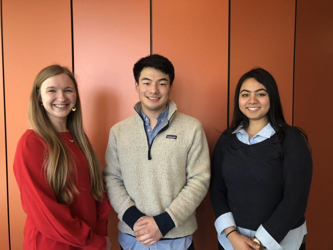 Megan Dague, Zachary Hellriegel, and Sanjida Choudhury