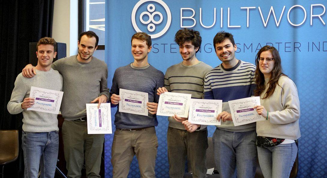 Students at BuiltWorlds 2018 Hackathon