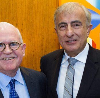 Christopher Burke and Professor Ansari