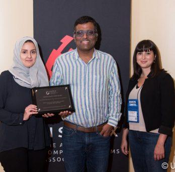 Abeer Alhuzali receives award
