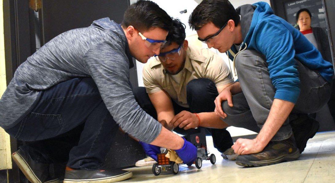 Students test car
