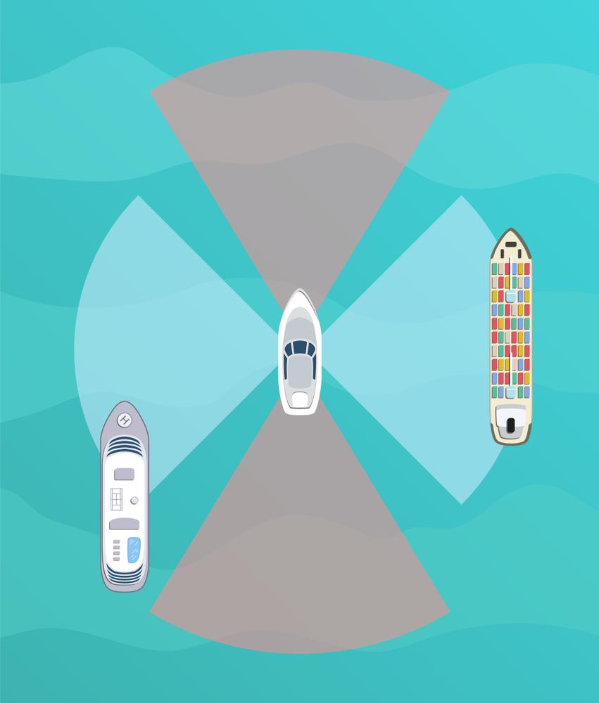autonomous boats illustration