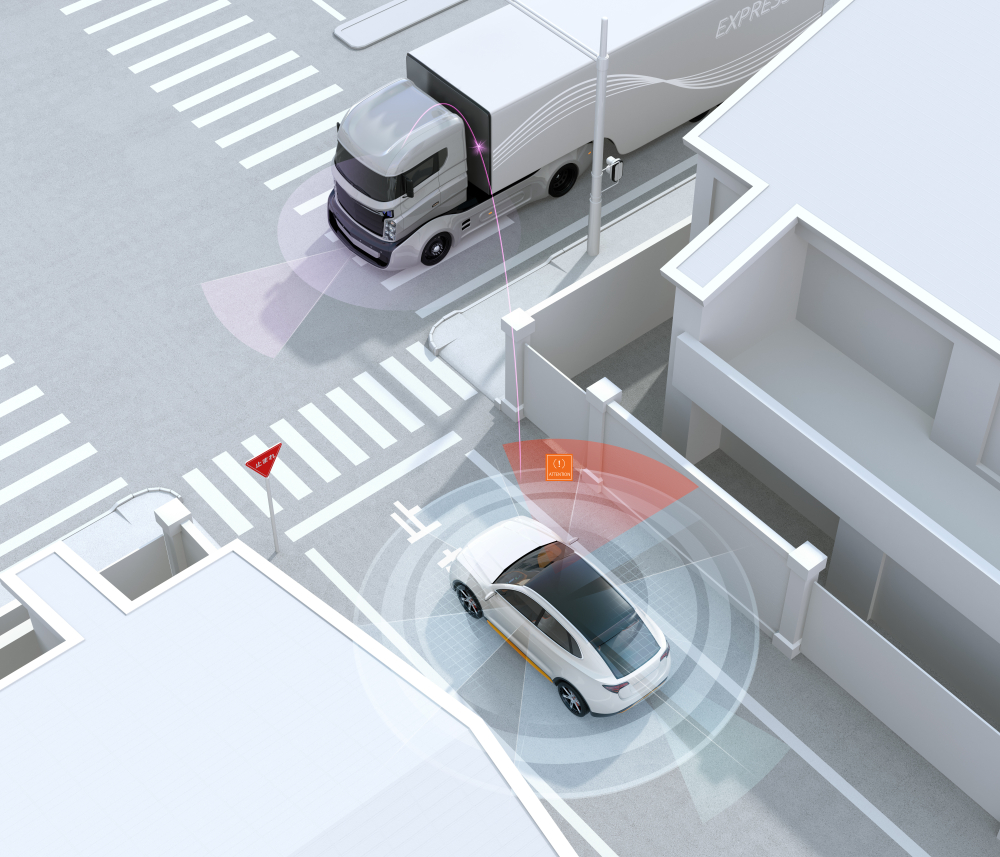 autonomous vehicles at intersection