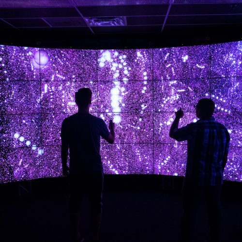 students in UIC's Electronic Visualization Lab