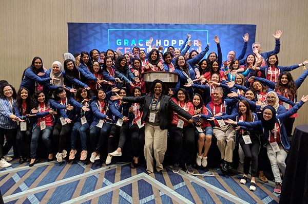 WiCS students at Grace Hopper Conference