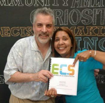 Dale Reed, left, facilitates ECS training