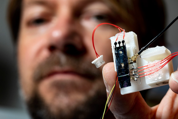 Igor holding sensor