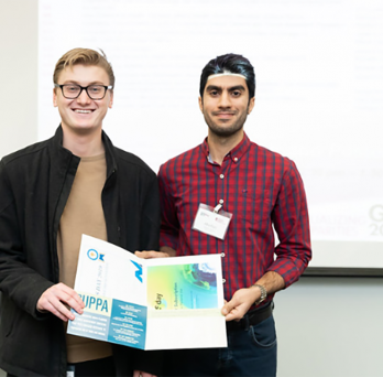 Abolfazl Seyrfar, a student in Civil and Materials Engineering, won the first-place award during the UIC GIS Day 2019 at the College of Urban Planning.