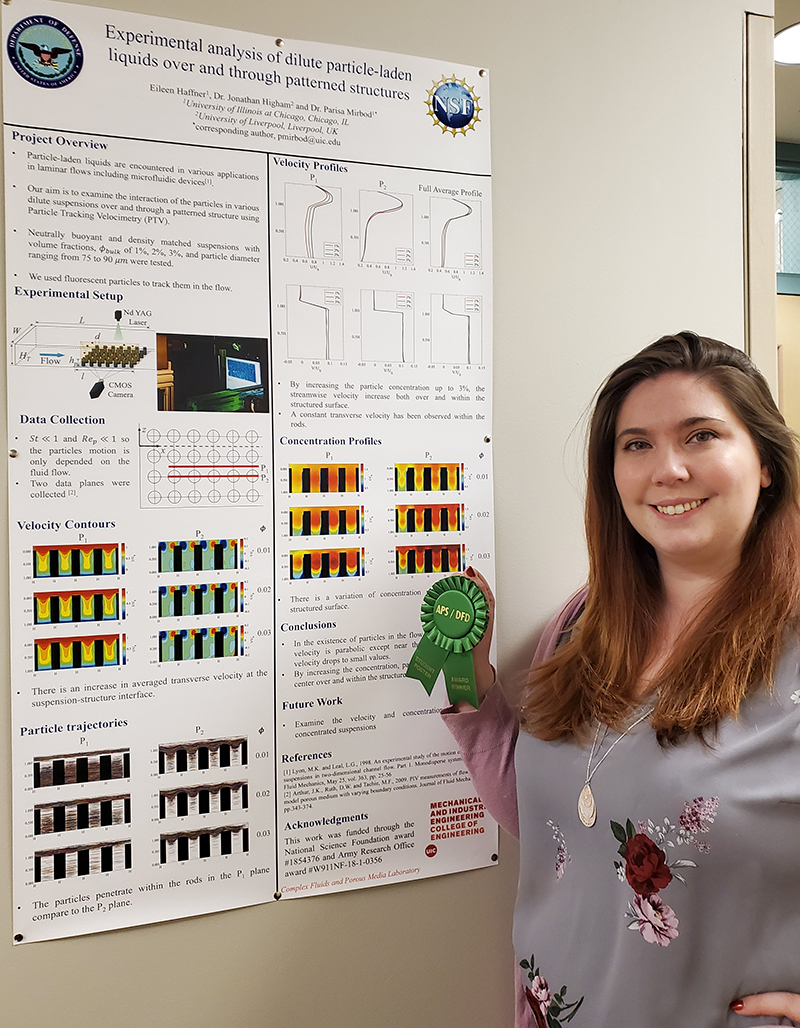 Eileen Haffner, a PhD candidate in mechanical and industrial engineering at the University of Illinois at Chicago