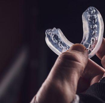 Mouthguard stock image