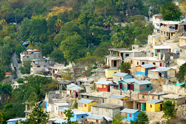 A village on a hill in Haiti