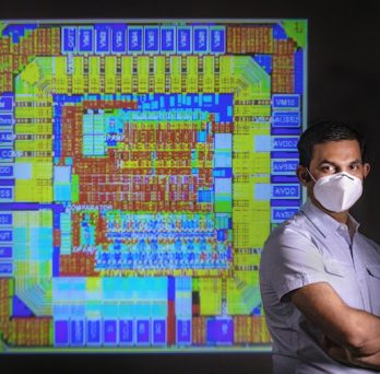 Amit Trivedi with computer chip