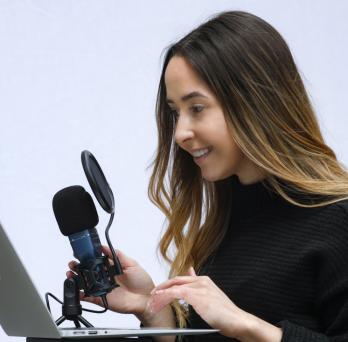 Manuela Burek produces a student-led podcast