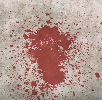 blood back spatter