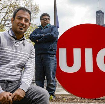 PhD student Navid Saneie, postdoctoral researcher Varun Kulkarni